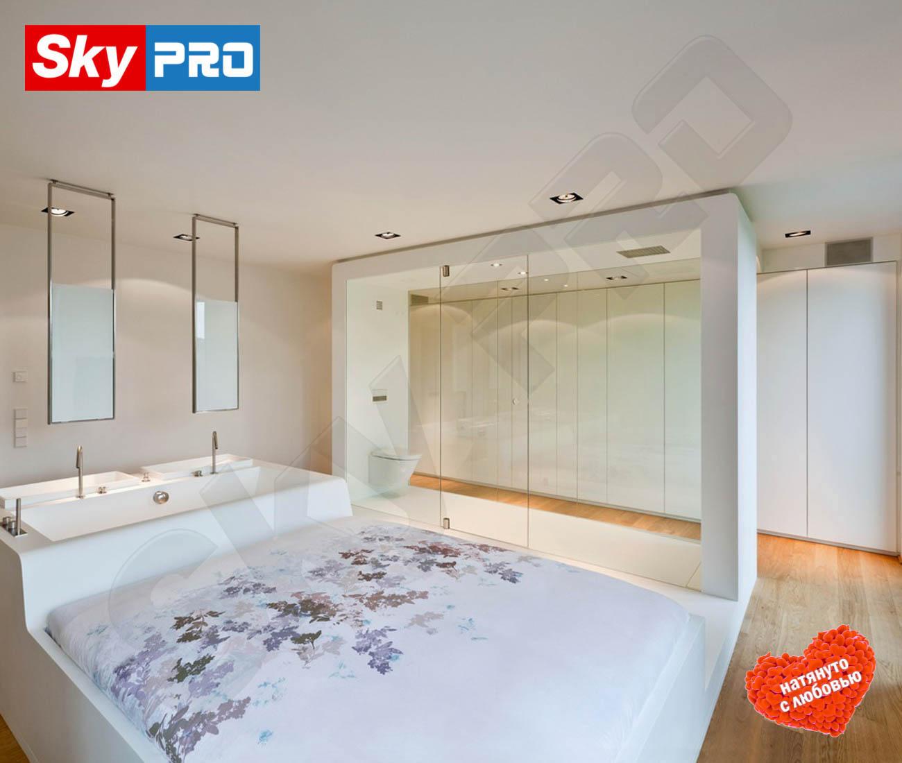 Белый тканевый потолок Экстра цена за м2