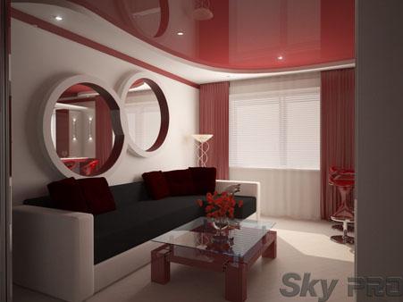 Многоуровневые конструкции для натяжных потолков
