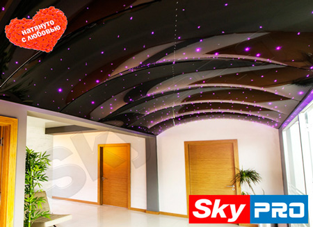 Арочный натяжной потолок