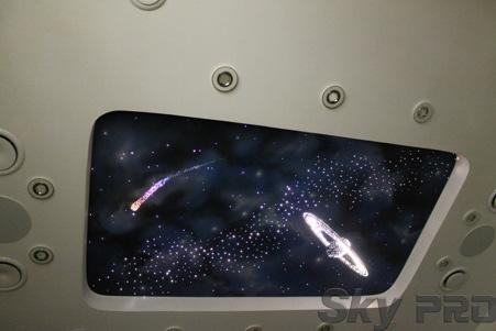 Звездная галактика из натяжных потолков StarPins